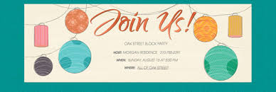 Neighborhood Party Invitation Wording Block Party Guide Evite