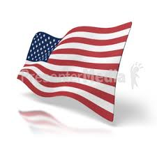 American Flag Powerpoint Usa Flag Perspective Great Powerpoint Clipart For