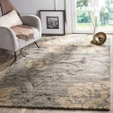 safavieh florida shag dark grey beige floral area rug 5u0026x273u0026 grey floral area rug f58 floral