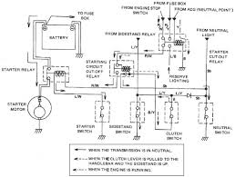 yamaha xs starting system circuit and wiring diagram