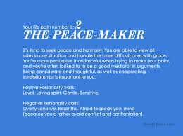 Numerology Chart 2 Life Path Number 2 The Peace Maker Life Path Number