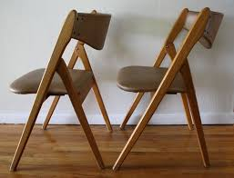 stylish padded wooden folding chairs fortable