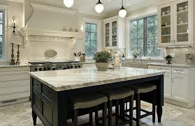 white marble kitchen counter on island