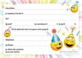 Edition Colibri Invitations Smiley En Français Lets Have A Party