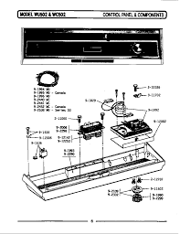 tag wu502 timer stove clocks and appliance timers wu502 dishwasher control panel components parts diagram