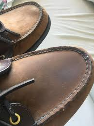 i tried cleaning my sperry s with a lysol wipe is there anyway to re these to look like the left shoe normal