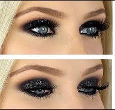 glitter black eye makeup