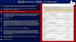 Car For Sale Sign Examples Texas Title Transfer Seller Instructions Youtube