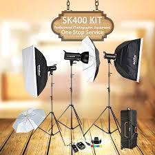 ox sk400 3 x 400w compact photo studio flash lighting set digital photography strobe light softbox portrait kit in photo studio accessories from