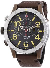 amazon com nixon a363 1625 mens the 48 20 chrono leather antique nixon a363 1625 mens the 48 20 chrono leather antique copper brown watch
