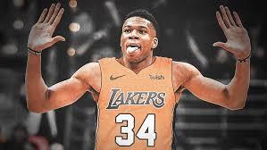One thing is certain though: Fans Lose It After Giannis Antetokounmpo Reacts To A Video Of Him In A Lakers Jersey Essentiallysports