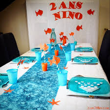 Une décoration de table sur le thème de Némo