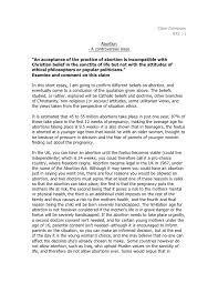 abortion essay ethics abortion essay ethics clare dempsey