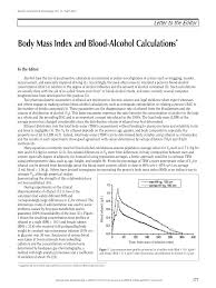 Bmi Alcohol Chart Pdf Body Mass Index And Blood Alcohol Calculations