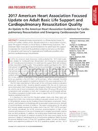 Resuscitation Chart Pdf Pdf 2017 American Heart Association Focused Update On Adult