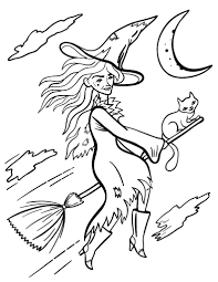 Small Picture Free Witch Coloring Page