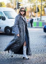 chanel glitter boots. winter shoe trends darja barannik chanel glitter boots street style web n