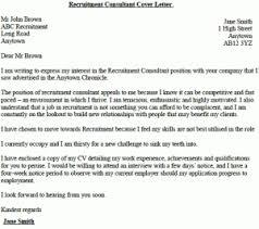 Recruitment Consultant Cover Letter Example Lettercv Com