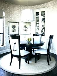 dining room table with area rug rug under round dining table round rug dining table style