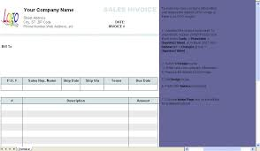 excel bill sales invoice 3 columns without shipping invoice