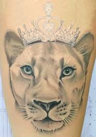 lioness with crown tattoo. Interesting With Lioness Crown Tattoo By Denisse  We Heart It On With Crown Tattoo E