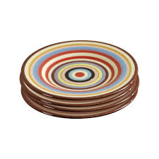 sedona set of four  inch ceramic salad plates by tabletops