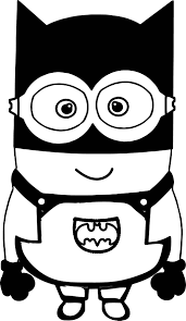 Small Picture Batman Cartoon Minions Coloring Page Wecoloringpage