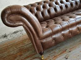 handmade traditional montana leather chesterfield sofa seat