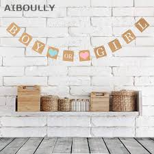 Boy Or Girl Baby Announcement Us 2 63 39 Off Boy Or Girl Baby Announcement Sign Baby Shower Party Hanging Garland Gender Reveal Decoration Bunting Party Events Supplies In
