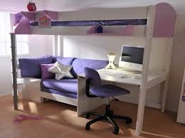 interesting loft bed couch with desk and computer
