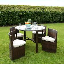 round table garden furniture outdoor table chair set rattan wicker dining garden furniture with sets garden