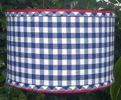 full size of gingham check lamp shades drum shade navy blue checks preppy by chandelier sh
