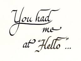 You Had Me At Hello Quote Delectable You Had Me At Hello [48] 4848 Delia's Designs HandPainted