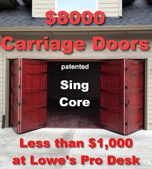 bi fold garage doors8 thousand dollar bi fold carriage doors mfg for 1 thousand