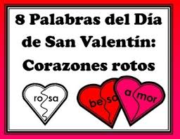 corazones de san valentin fotos palabras del dia de san valentin corazones rotos 2 silabas by