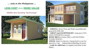 affordable waffle box house protection against typhoon for affordable house plans philippines