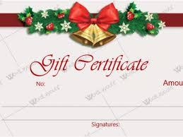christmas gift card templates free printable christmas gift certificate template word christmas