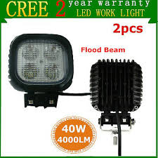 2X <b>5inch 40W LED Work</b> Light FLOOD Beam Offroad Bulldozer ...