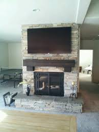 remodel air stone fireplace