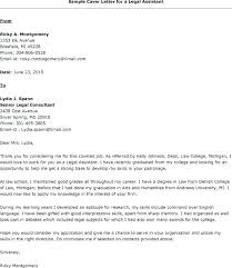 Legal Assistant Cover Letter Sample Lawyer Compliant Consequently