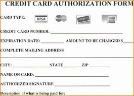 credit card authorization form photo 1