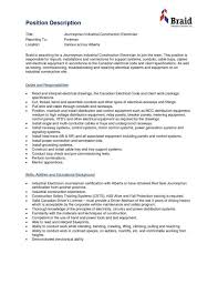 Electrician Sample Resume Sample Resume For Industrial Electrician Friends And Relatives Records 24