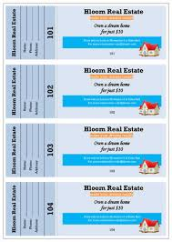 raffle ticket templates in microsoft word  mail merge dream home prize