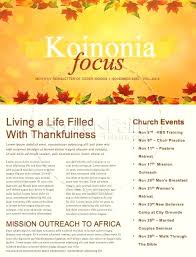 Free Thanksgiving Templates For Word Happy Thanksgiving Blessings Church Newsletter Template Free