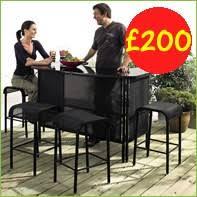 garden dining furniture asda. cruise bar set garden dining furniture asda o