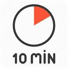 a 10 minute timer 10 min clock minute ten timer icon