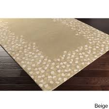 hand tufted rome fl border wool area rug 12 x 15