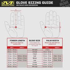 Mechanix M Pact Size Chart Mechanix Wear Glove Sizing Chart Images Gloves And