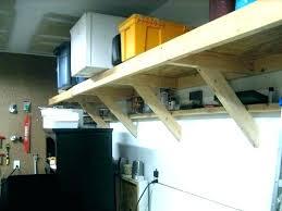 build overhead garage shelves homemade overhead garage storage plans best build hanging shelves ultramodern or diy