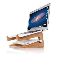 browse home products detachable wooden macbook stand